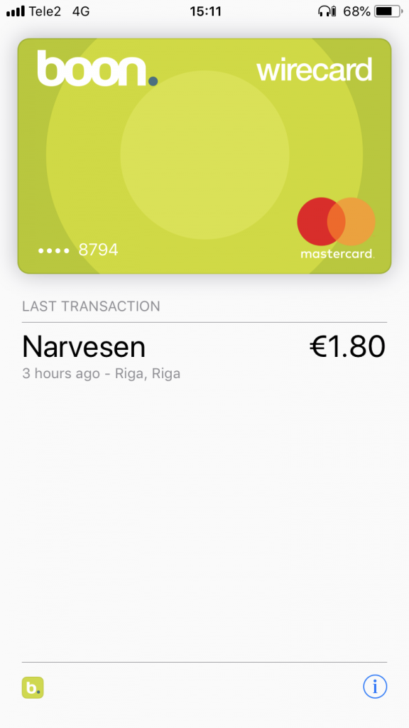 Apple Pay screenshot in Narvesen